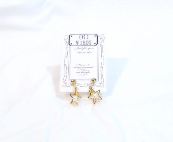 イヤリング¥1500