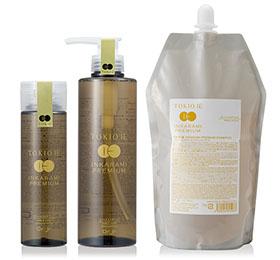TOKIO IE INKARAMI  PREMIUM SHAMPOO (トキオ インカラミ)  トキオプレミアムラインのホームケアシャンプー。  シルクとコラーゲンを洗浄成分に用いたPPT系シャンプー。 TOKIO IE INKARAMI PREMIUM TREATMENTと併用で反応型ケラチンが毛髪内部に浸透してインカラミ効果を発揮します。  しっとり仕上げたい方に♪